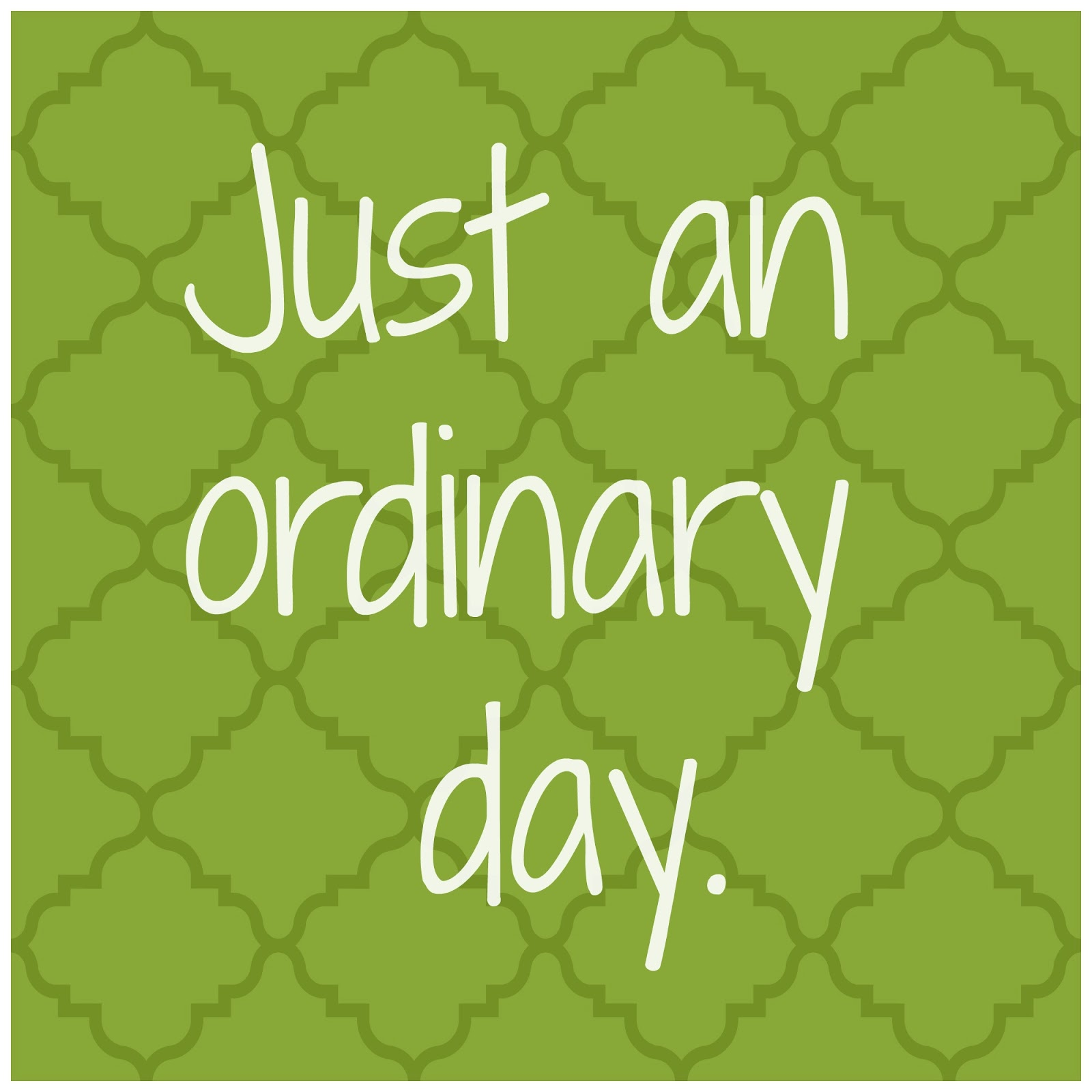 ordinary day An ordinary day has 22 ratings and 4 reviews jack kirby and the x-man said: this book is about how childhood imagination can move an ordinary day into.